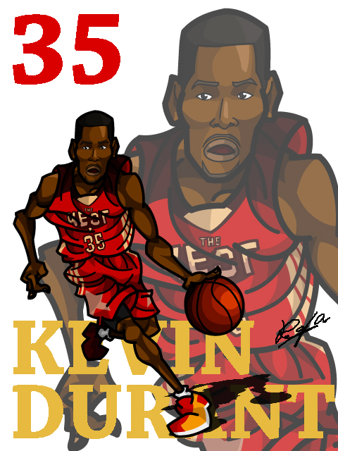 Kevin Durant #3 AS