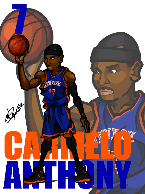 Carmelo Anthony #4 Away