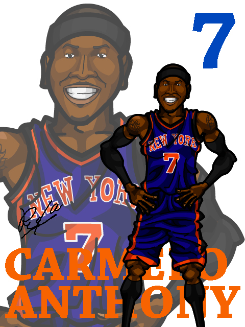 Carmelo Anthony #5 Away