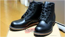 RED WING 9014 BECKMAN ROUND BOOTS BLACK FEATHER STONE LEATHER [2011 04/06]