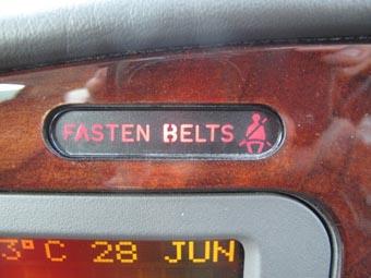 シートベルトの警告灯