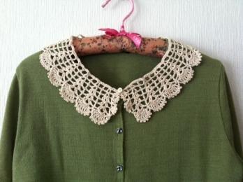 つけ襟 かぎ針編み-2