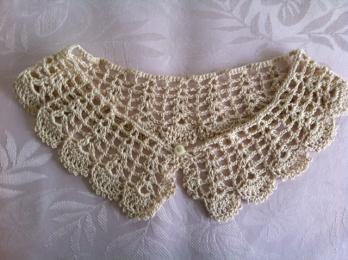 つけ襟 かぎ針編み-1