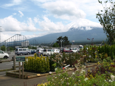 富士山と富士急ハイランド@Jマート富士吉田店