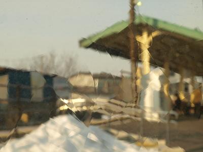 七日町駅ホーム(駅カフェより)