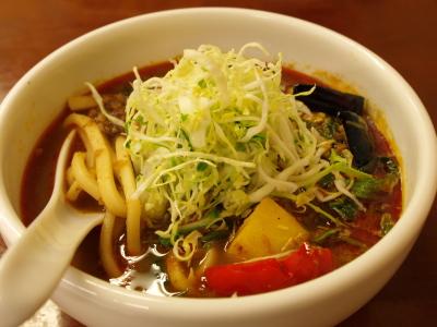 野菜カレーうどん(スープカレーうどん)@カレ吉