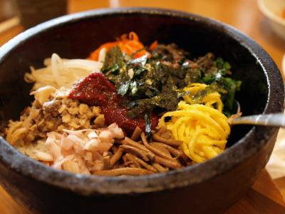 石焼ビビンバ@韓国料理店「平野屋」
