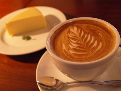 カプチーノ&チーズケーキ@CAFE JI-MAMA