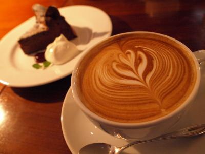 カフェラテ&ガトーショコラ@CAFE JI-MAMA