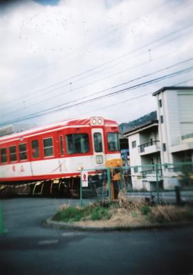 電車通過@富士急ハイランド前
