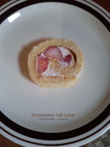 イチゴのロールケーキ