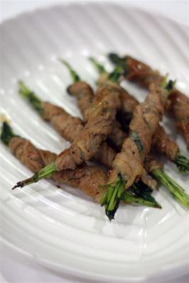豆苗の豚肉ロール