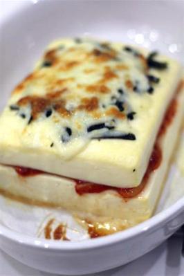 キムチの豆腐グラタン