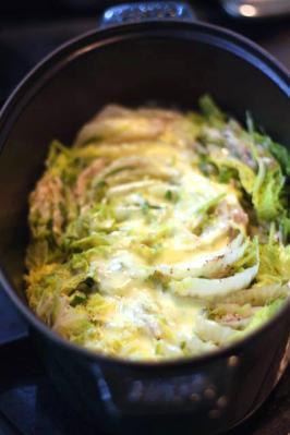 豚バラと白菜のチーズミルフィーユ鍋1