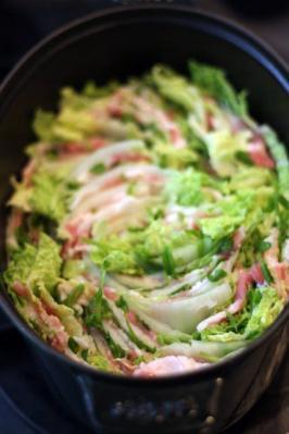 豚バラと白菜のチーズミルフィーユ鍋2