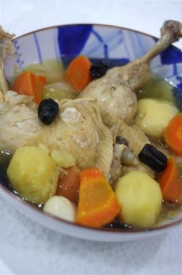 参鶏湯(サンゲタン)のポトフ風