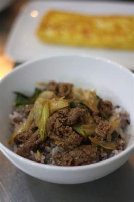 牛肉と長ねぎのコクうま炒め