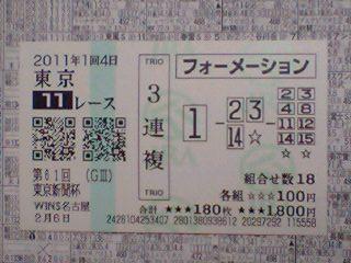 2011年02月06日東京11R東京新聞杯