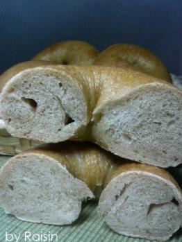 20101226自家栽培小麦ベーグルbyレーズン酵母0