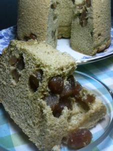 20110219緑茶と甘納豆のシフォン00