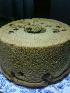 20110219緑茶と甘納豆のシフォン0