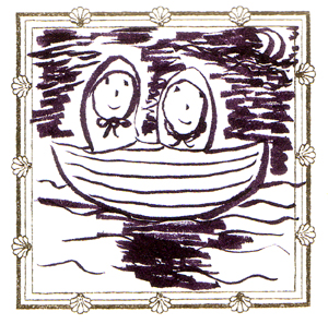 小舟でゆく
