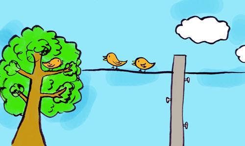 鳥の世間話b