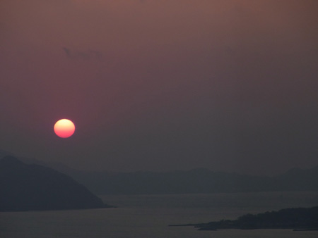 福岡タワーからの夕日