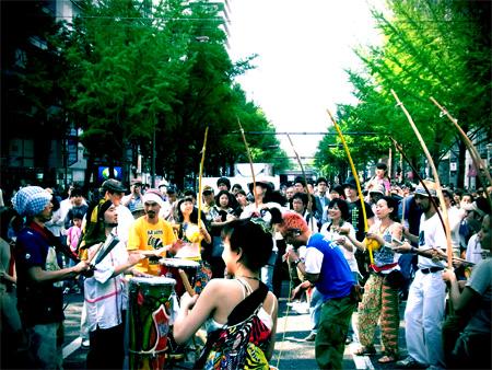 御堂筋の祭り