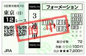 【的中馬券】1124東京12(日刊コンピ 馬券生活 的中 万馬券 三連単 札幌競馬)