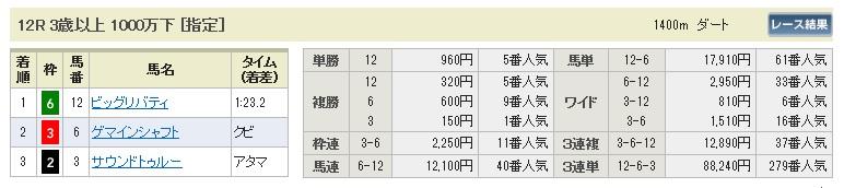 1129東京12(日刊コンピ 馬券生活 的中 万馬券 三連単 札幌競馬)