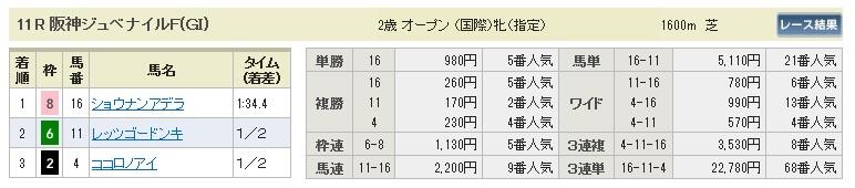1214阪神11(日刊コンピ 馬券生活 的中 万馬券 三連単 札幌競馬)