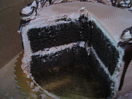RR chocolate cake inside