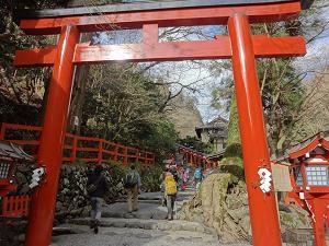 ブログ貴船神社参道階段
