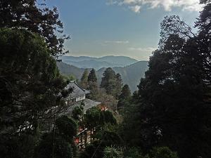 ブログ鞍馬寺から比叡山展望