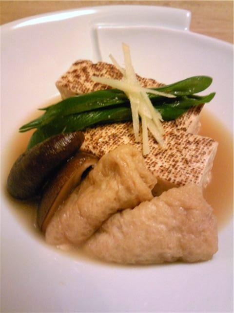 焼き豆腐とおあげさんの煮物