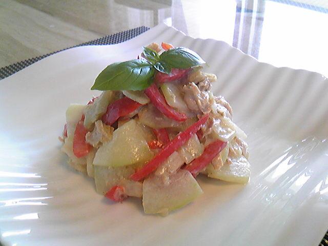 冬瓜とパプリカの柚子胡椒マヨ♪