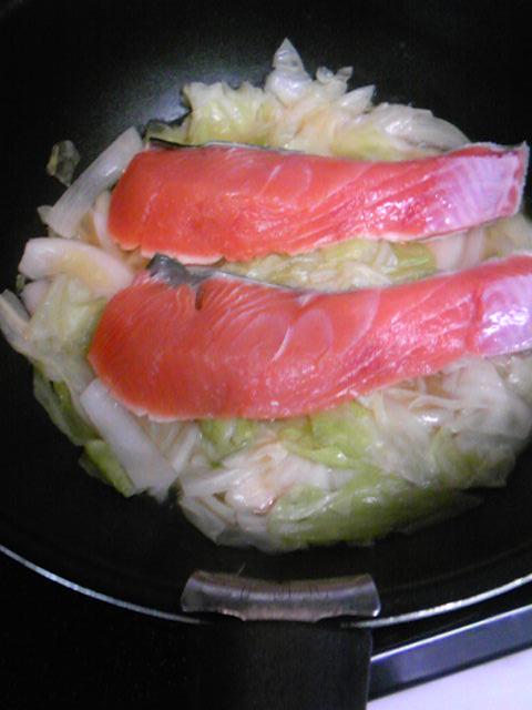 秋鮭スープ手順3