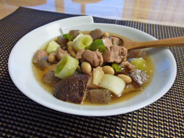 大豆と鶏肉の汁煮♪♪