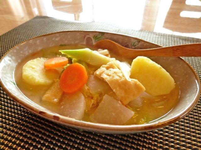 粕と味噌の野菜汁