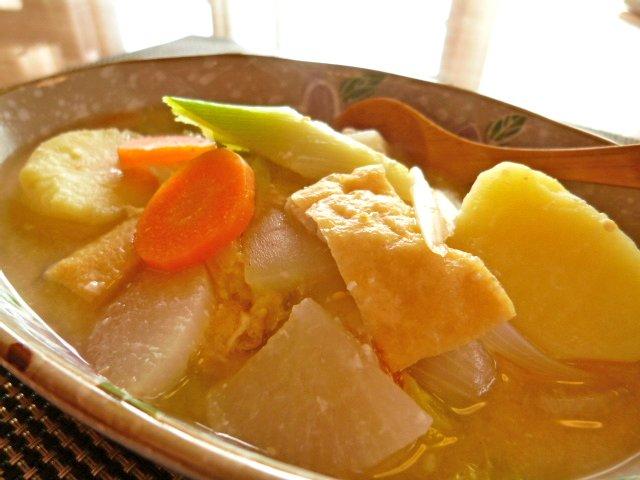 粕と味噌の野菜汁2