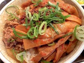 すき家(食べラーメンマ牛丼その1)