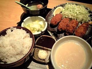土風炉(牡蠣フライとろろ定食)