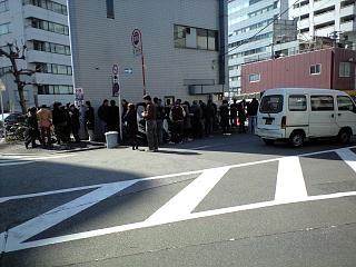 ラーメン二郎三田本店(裏の行列)