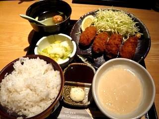 土風炉(牡蠣フライとろろ定食2)