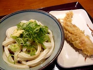楽釜製麺所(ぶっかけ並、げそ天)