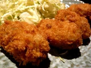 土風炉(麦とろ牡蠣フライ定食・牡蠣フライ)