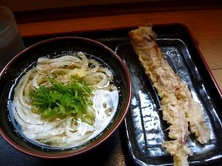 水道橋麺通団(うどんとゲソ天)