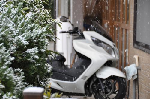 雪とバイク
