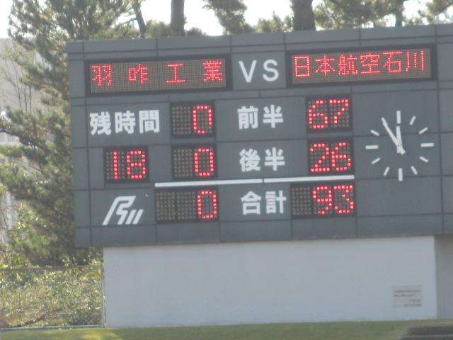 高校ラグビー新人戦  航空vs羽咋工業 250